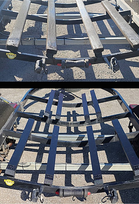 Boat Trailer Bunk Replacement Before And After - Tuff Bunk